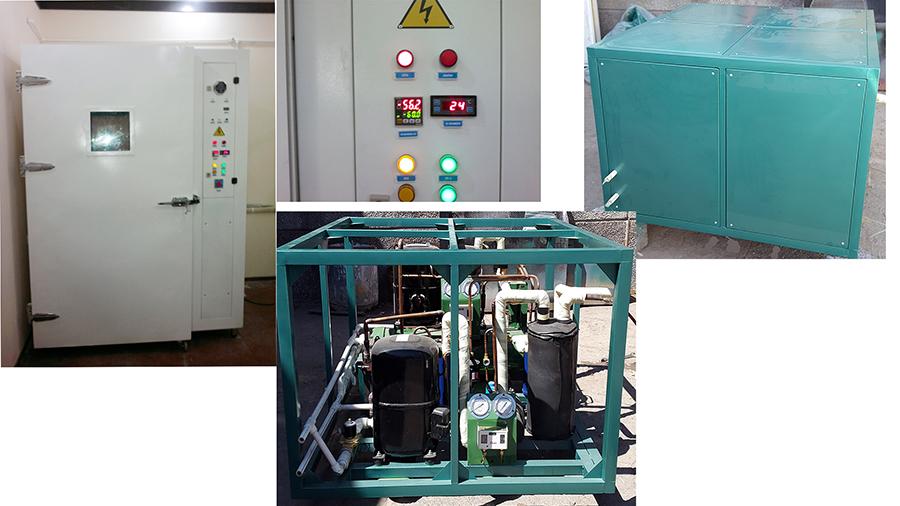 Испытательная камера для Центра Сертификации. Предназначена для испытания различного рода материалов. Температурный диапазон  +200/-50°С