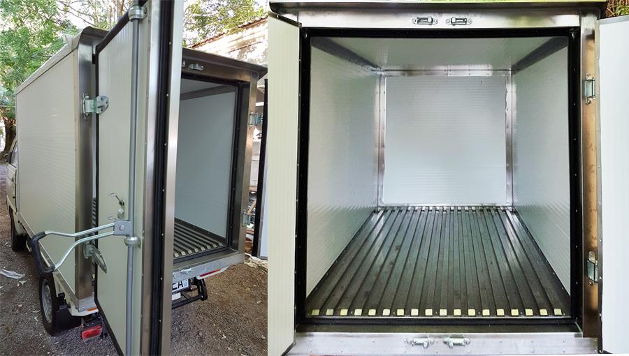 Изотермический фургон, предназначены для перевозки различной охлажденной продукции. Предусмотрена установка холодильного агрегата.