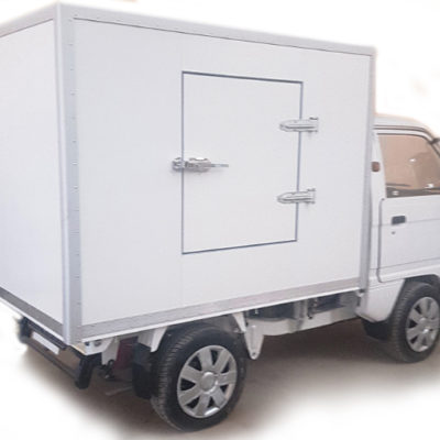 Isothermal van designed for transportation of various refrigerated products. Installation of a refrigeration unit is provided