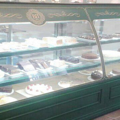 The confectionery showcase was made for the confectionery